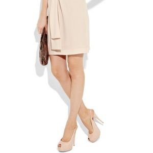 Authentic Giuseppe Nude Patent Leather Slingbacks